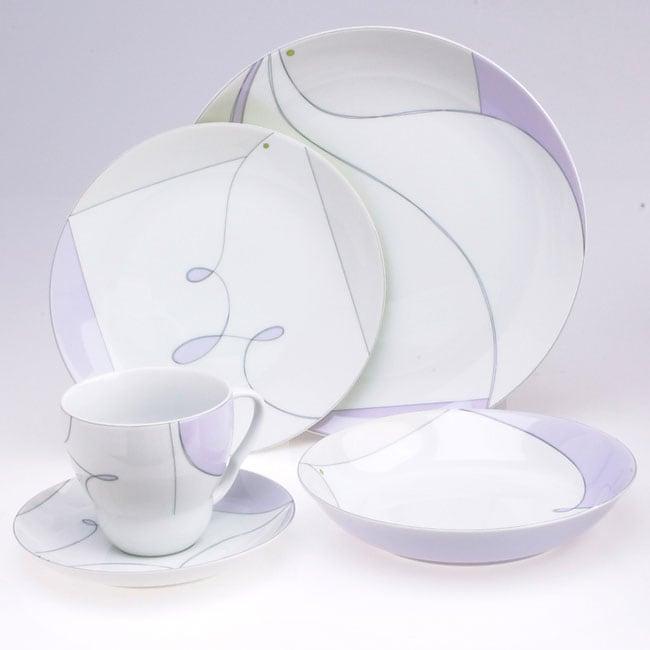 Sasaki Firefly 20-piece Porcelain Dinnerware Set