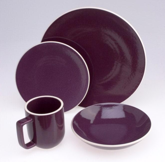 45a937befa2a Shop Sasaki Colorstone Plum 16-piece Stoneware Set - Free Shipping Today -  Overstock - 928015