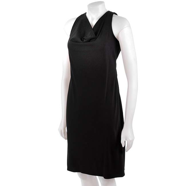 David Meister Matte Jersey Black Cocktail Dress