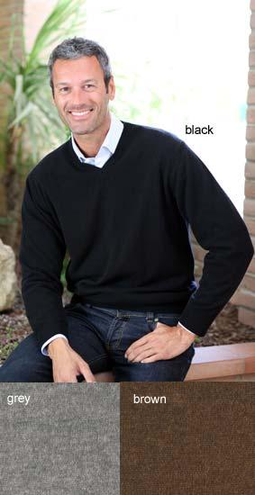 I LEVRIERI Men's Italian Cashmere V-neck Sweater