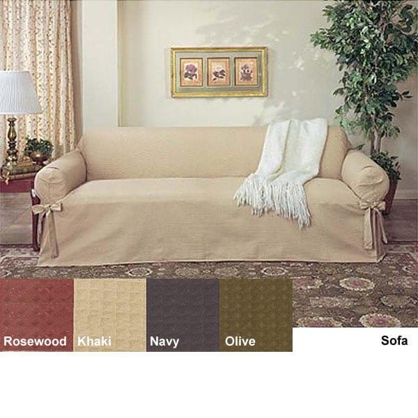 Waffle Weave Sofa Slipcover