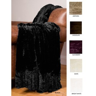 Laura Faux Fur Foxtail-trim Throw