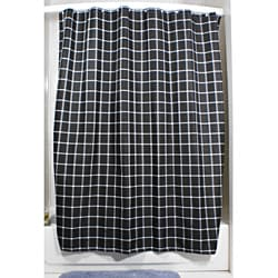 Lincoln Black Grid Shower Curtain