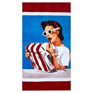 Lipstick New Yorker Beach Towel