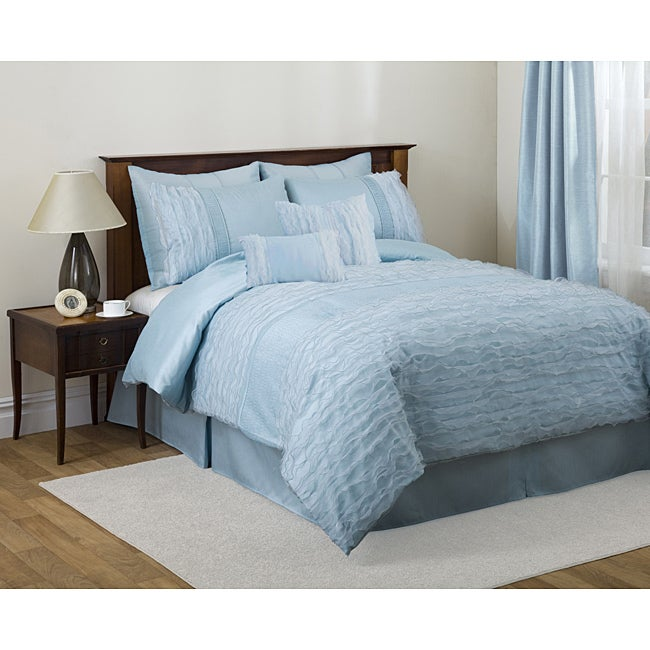 Lush Decor Blue Paloma 4-piece Comforter Set