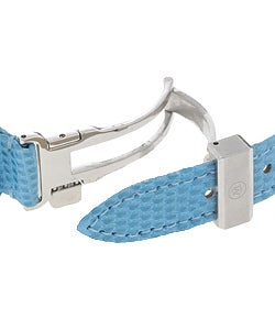 Movado Sports Edition Women's Blue Dial Leather Strap Diamond Watch - Thumbnail 1