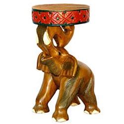 Hand-carved Thai Elephant Table