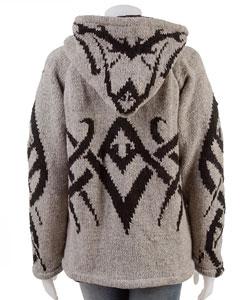 Hand-knitted Wool Sweater Jacket  (Nepal) - Thumbnail 1