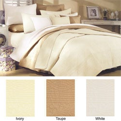 Greenland Home Fashions Renaissance Quilted King-size Cotton 3-piece Quilt Set - Thumbnail 1
