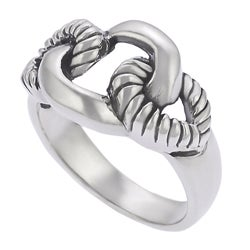 Journee Collection Sterling Silver Rope Link Ring