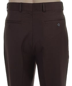 Louis Raphael Men's Chocolate Dress Pants