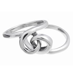 Journee Sterling Silver Intertwined Knot Ring