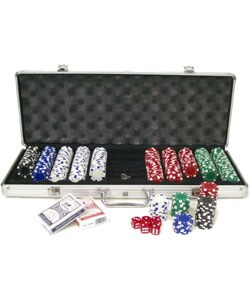 King Pin 500-pc. 11.5g Deluxe Poker Set with Aluminum Case - Thumbnail 1