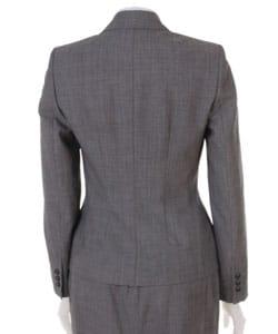 Anne Klein Petite Grey Wool Skirt Suit - Thumbnail 1