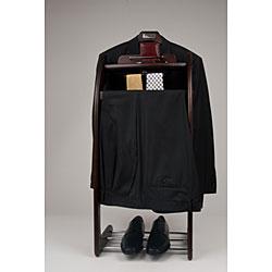Mahogany Finish Clothes Valet Stand