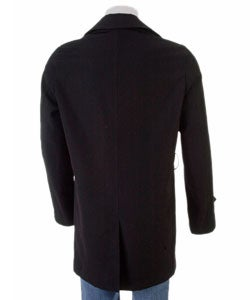 Versace Men's Size 48 Black Wool Car Coat