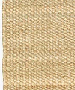 Hand-woven Jute Natural Rug (8' x 10'6) - Thumbnail 1