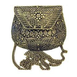 Agate Inlaid Evening Handbag, India (case of 2) - Thumbnail 1