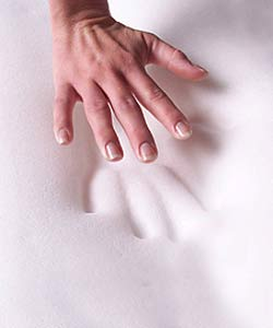 White Goose Down Cover for Memory Foam Toppers - Thumbnail 1