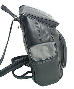 Adi Designs Leather Flip-top Backpack (case of 3) - Thumbnail 1