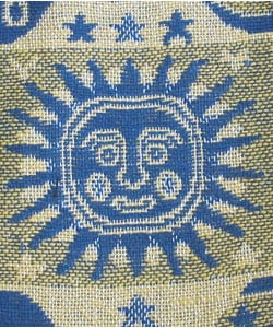 Sun, Moon, and Stars Cotton Throw Rug (India) - Thumbnail 1