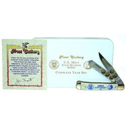 24k Gold Plated 2004 State Quarter Series & Knife - Thumbnail 1