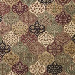 Nourison Golden Saga Burgundy Multi Rug (9'6 x 13') - Thumbnail 1