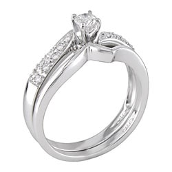 14-kt. White Gold 1/3-ct. TW Diamond Wedding Ring Set (case of 2) - Thumbnail 1