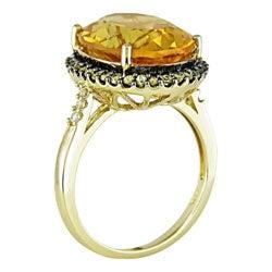14k Yellow Gold Citrine & Yellow Sapphire Ring - Thumbnail 1