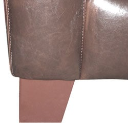 Brown Leather Sectional Sofa - Thumbnail 1