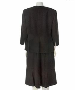Sag Harbor Plus Size Two-piece Black Skirt Suit - Thumbnail 1