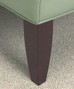 Garland Aqua Leather Chair - Thumbnail 1