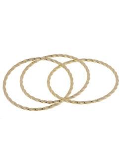Mondevio 18k Gold over Silver Stackable 3-piece Interlocked Bangle