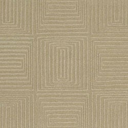 Hand-crafted Solid Beige Geometric Manhattan Wool Rug (3'3 x 5'3) - Thumbnail 1