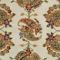 Safavieh Handmade Tabriz Ivory/ Sage Wool and Silk Rug (6' Round) - Thumbnail 1