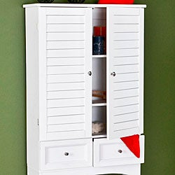 Nassau White Louvered Spacesaver Cabinet