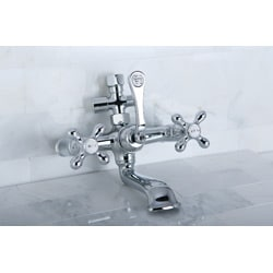 Chrome Complete Clawfoot Tub and Shower Package