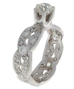 14k Gold 2ct Old Mine Diamond Ring