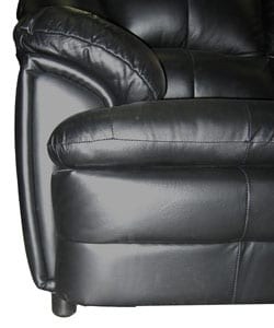 Black Leather Sofa, Loveseat, and Rocker/ Recliner