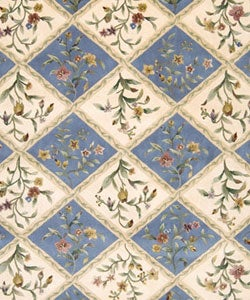 Nourison Hand-tufted Julian Ivory/ Blue Wool Rug (7'6 x 9'6)