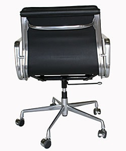 Adjustable Rolling Leather Office Chair - Thumbnail 1