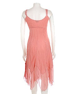Shop Komarov Dress With Chiffon Inserts Free Shipping Today