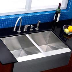 Thumbnail 2, Farmhouse 33-inch Stainless Steel Undermount Kitchen Sink. Changes active main hero.