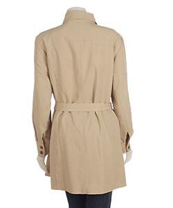 Plus Size Belted Safari Jacket - Thumbnail 1