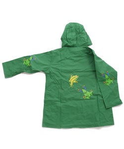 Wippette Kids Boy's 3-piece Frog Raincoat Set - Thumbnail 1
