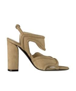 Balenciaga Beige Suede Sandals - Thumbnail 1