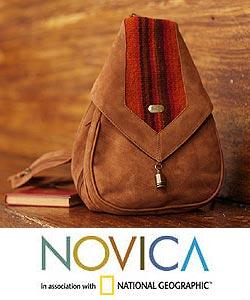 Leather Andean Teardrop Backpack (Peru)