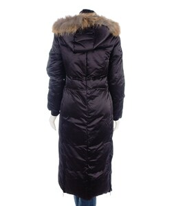 Via Spiga Women S Full Length Down Coat With Raccoon Fur