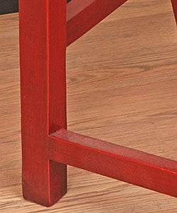 Handmade Wooden Double Horse Bench (China) - Thumbnail 1