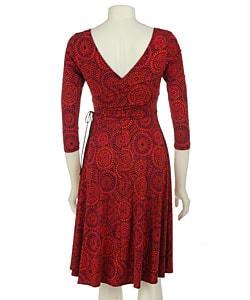 London Times Wrap Matte Jersey 3/4 Sleeve Dress - Thumbnail 1